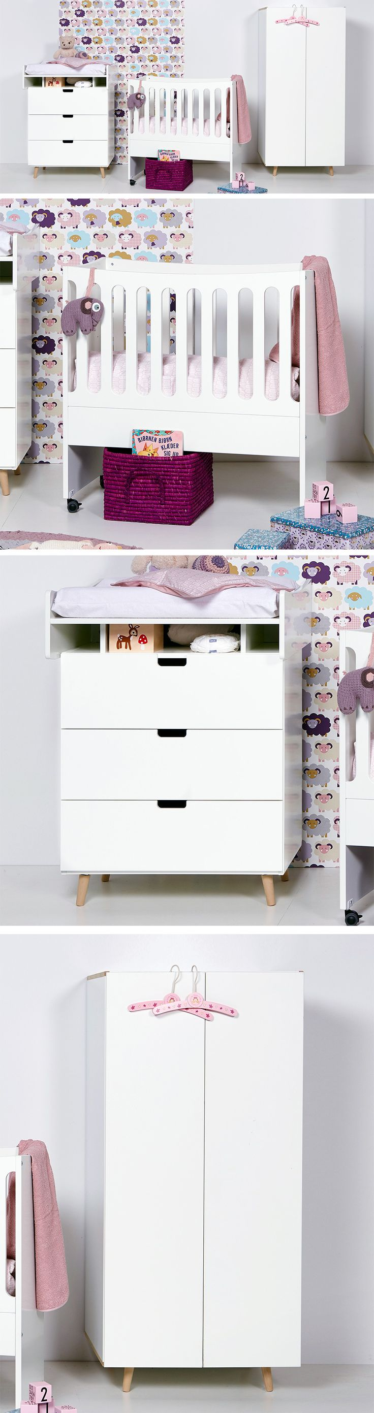 Unique Komplettes Babyzimmer im angesagten Retro Style Schlichtes Wei in Kombination mit typischen Retro