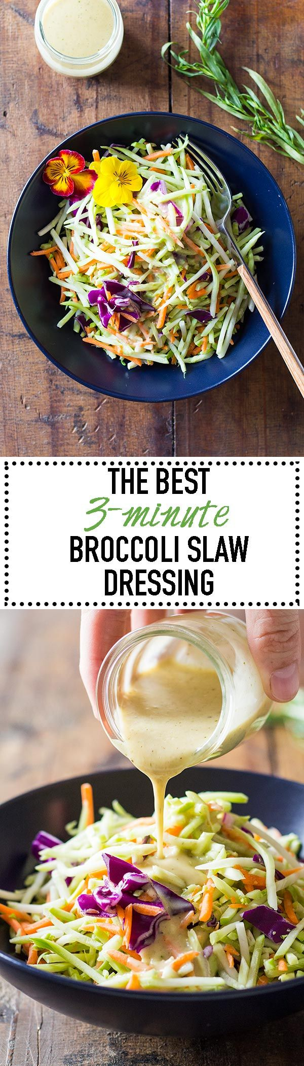 Yes! It's the best! The very best Broccoli Slaw Dressing EVER!!! Secret ingredients: estragon, honey and dijon mustard! Well, now they're not secret anymore ;) via @greenhealthycoo #ad