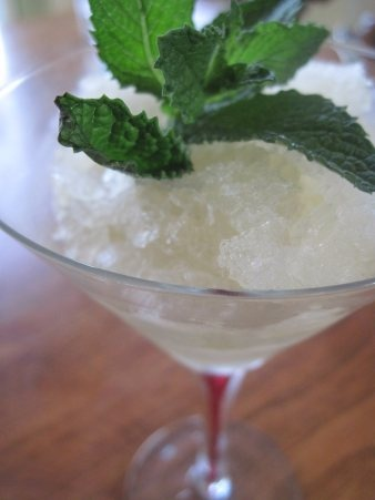 Mint Julep Granita for the Kentucky Derby | Moore or Less Cooking Food Blog
