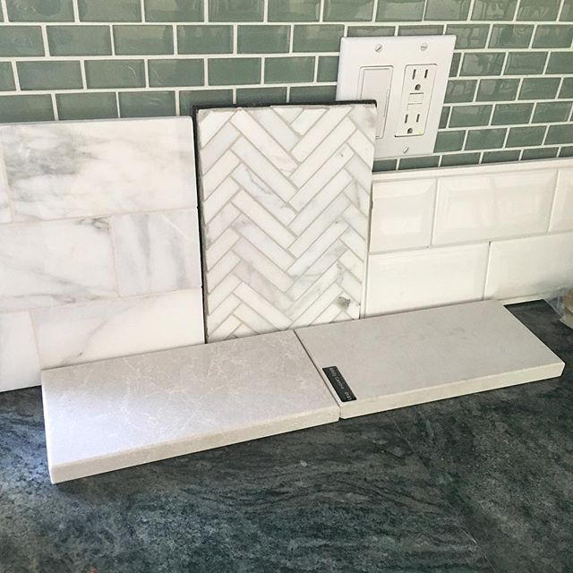 Today's choices...taking this kitchen's green granite and glass backsplash out…