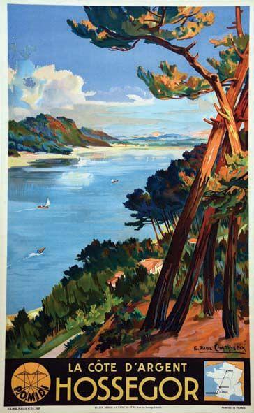 chemins de fer paris-orléans-midi - Hossegor - La côte d'Argent - 1937 - (Paul E. Champseix) -