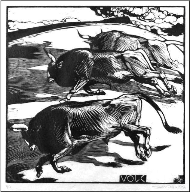Bulls, Duilio Cambellotti, 1935