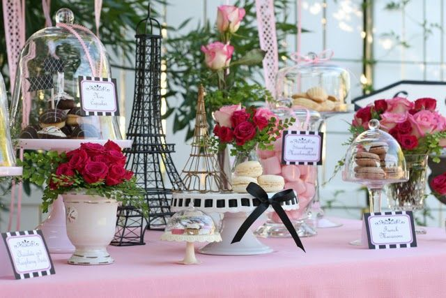 Parisian French Tea Party - this is exactly what Emma wants to do for her birthday party this year. Love!