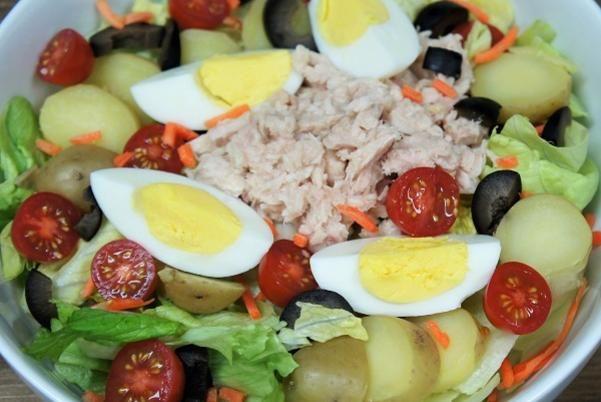 Tuna Potato + Egg Salad