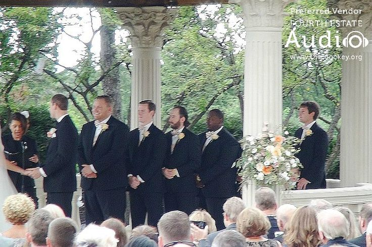 Josh and his groomsmen. http://www.discjockey.org/real-chicago-wedding-august-20-2016/