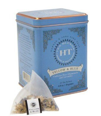 Harney and Sons Yellow and Blue Tea,20 Tea Shachets 0.9oz: Amazon.com: Grocery & Gourmet Food- Chamomile and Lavender