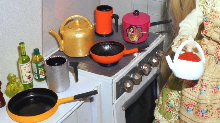 Como fazer Panela (chaleira, frigideira e papeiro) para boneca Monster H...