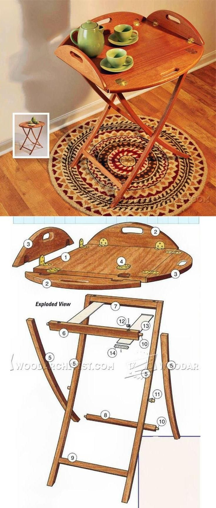 Butler Tray and Stand Plans - Furniture Plans and Projects | WoodArchivist.com
