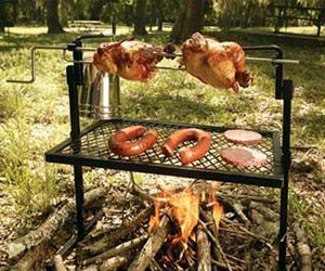 Rotisserie & Spit Grill - This would be fun to have in the backyard!