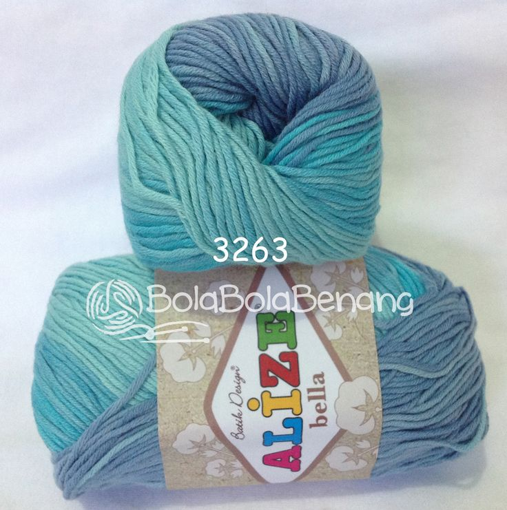 Alize Bella Batik 3263, Price: Rp.65.000,- /gulung, Bahan: 100% COTTON, Berat/Panjang: 50gram/180mt, Knitting Needles: 2mm - 4mm, Crochet Hook: 1mm - 3mm