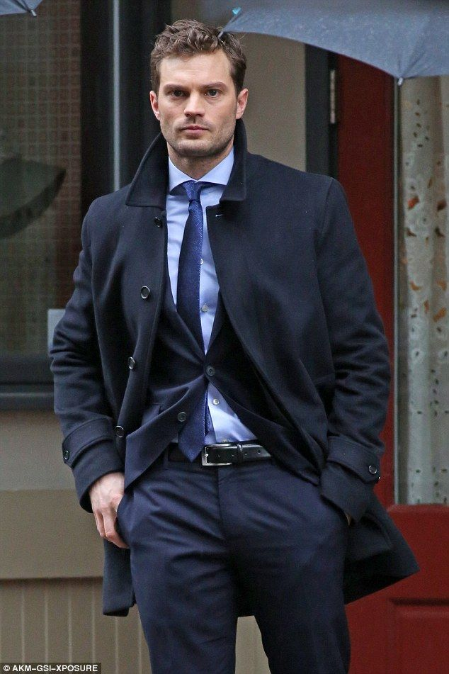 The countdown is on: Fifty Shades fans can look forward to witnessing Jamie's smouldering good looks on screen once again when the film is released next year
