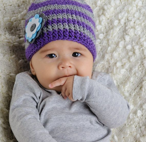 Baby girl winter hat hand made crochet hat by pineapplepetekids, $22.00