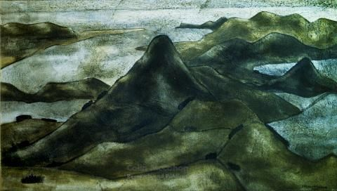 Harbour Cone from Peggy's Hill, 1939 - Colin McCahon