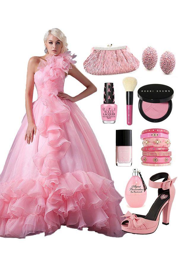 One-shoulder Tiers Dress with Ruffles -- #Cherishdress#. Please click to http://www.cherishdress.com/