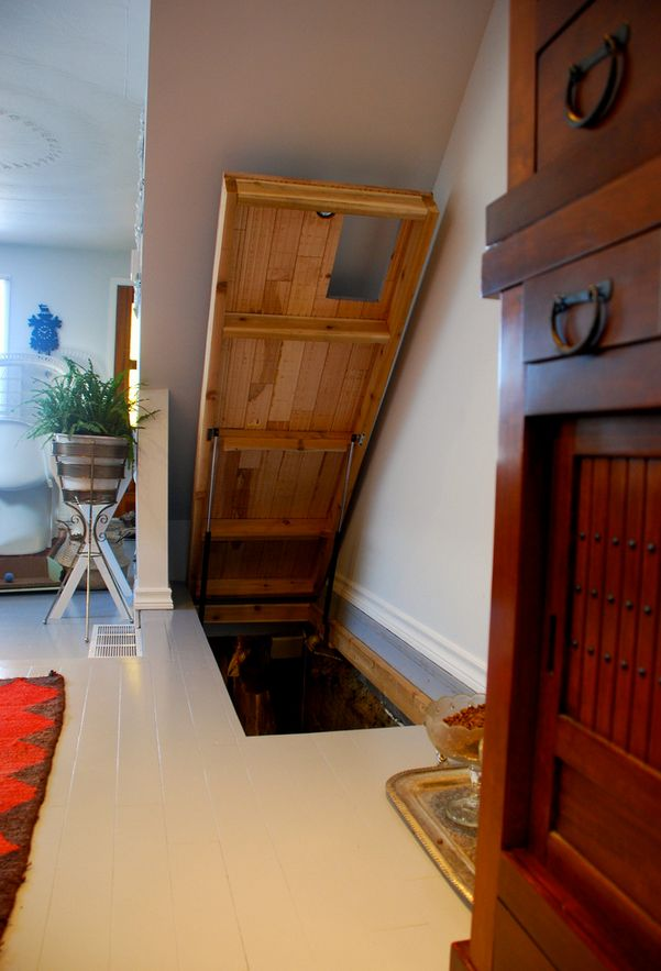 Hidden Interior Slides Trap Door In Floor Opens To