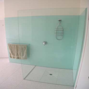 Glass Shower Partition | Glass Shower Walls Seamless Floor