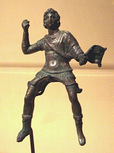 Statuette of young Alexander the Great from Bagram in Musée Guimet (Paris, France)