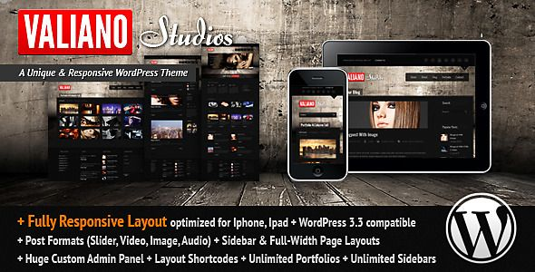 STUDIO THEME -- Valiano Responsive WordPress Theme