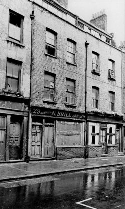 Hanbury Street, in 1967. 80 years before this photograph was taken, Annie Chapman's body was found in the back yard of number 29 - she is generally thought to have been Jack the Ripper's second victim.