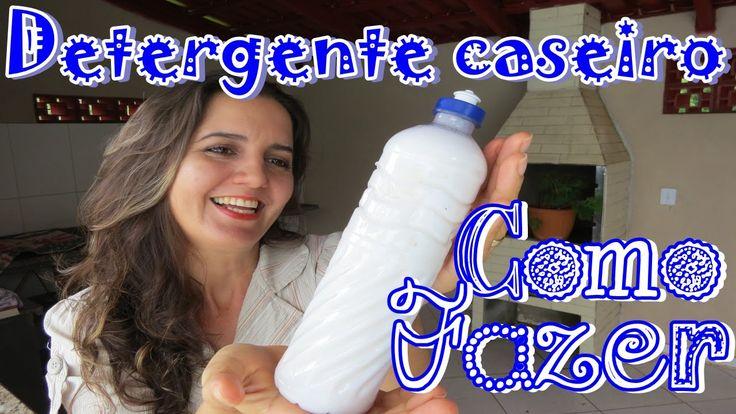 COMO FAZER DETERGENTE CASEIRO DE COCO 1 barra sabão de coco (200g) 1 colher sopa bicarbonato 1/2 copo de vinagre branco 2 litros de água fervente