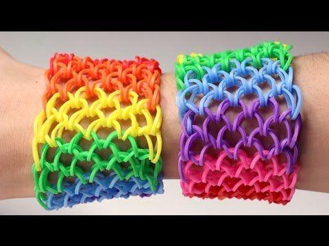 Rainbow Loom Nederlands - Dragon Scale || Loom bands, rainbow loom, nede...