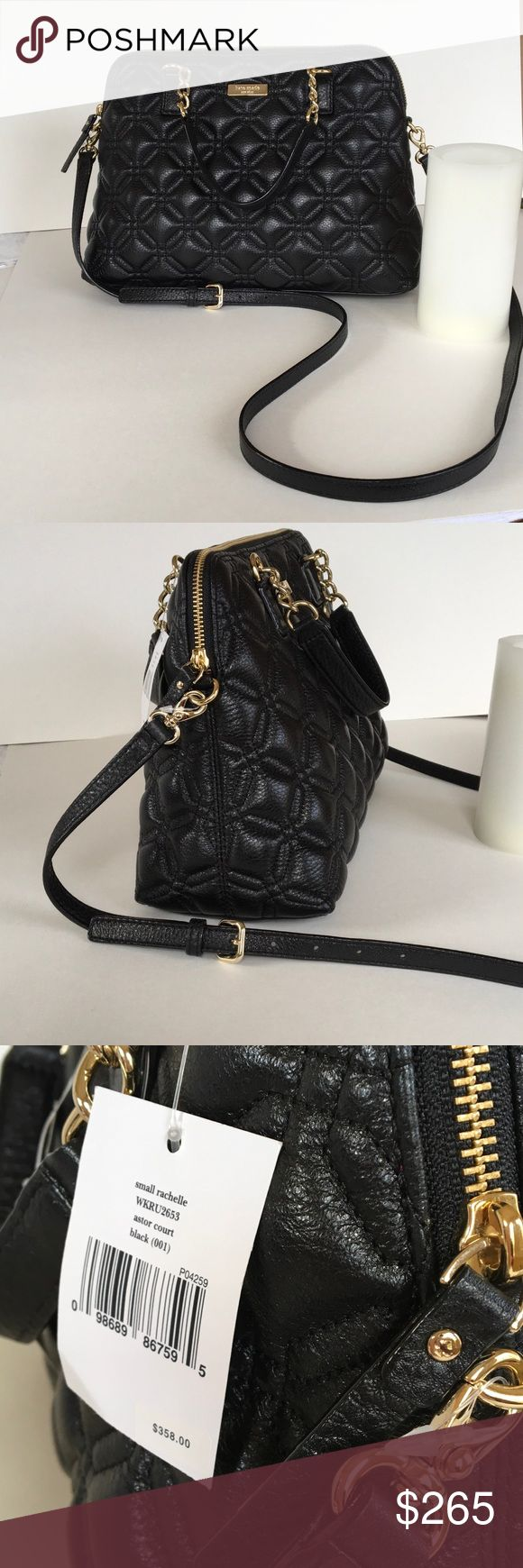 💥Kate Spade ♠️ Astor Court Kate Spade small Rachelle Astor Court in black quilted exterior with hot pink interior, gold tone hardware. Pristine!  This looks like the love child between a Chanel bag and a Louis Vuitton Alma. It's an instant classic!!❤️❤️❤️ kate spade Bags Satchels