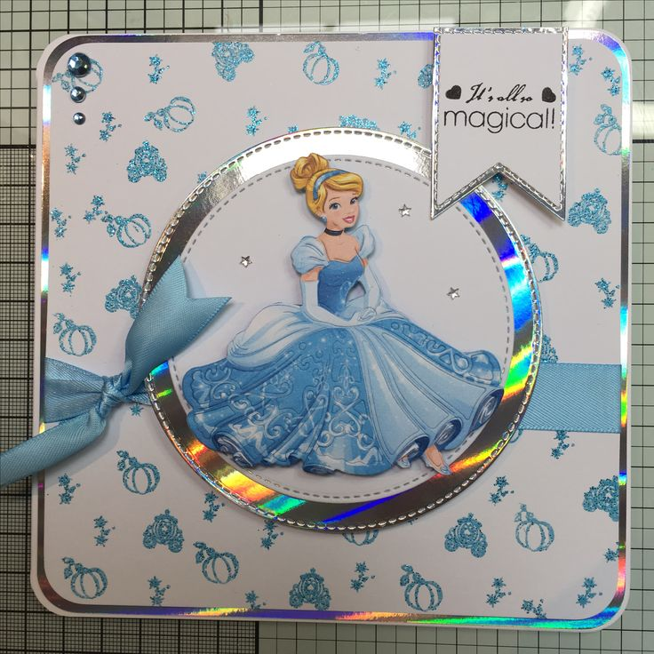 Disney Cinderella die and colourful creations