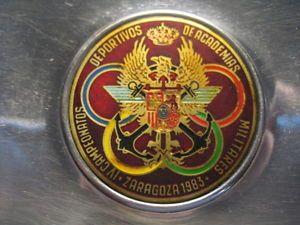 a plato cenicero metal iv campeonatos deportes academias militares zaragoza 1983