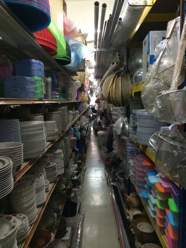 A local hardware store - the place had everything, but wasn't a place for someone suffering from claustrophobia….