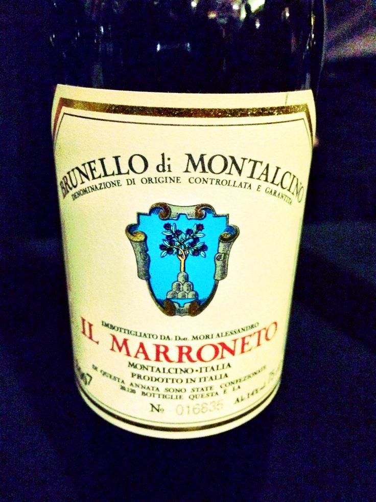 My favorite wine of the night by far 2007 Il Marroneto Brunello di Montalcino. Perfect in every way!