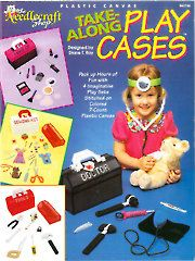 Needlework Plastic Canvas - Plastic Canvas - Out-of-Print Patterns - Take-Along Play Cases