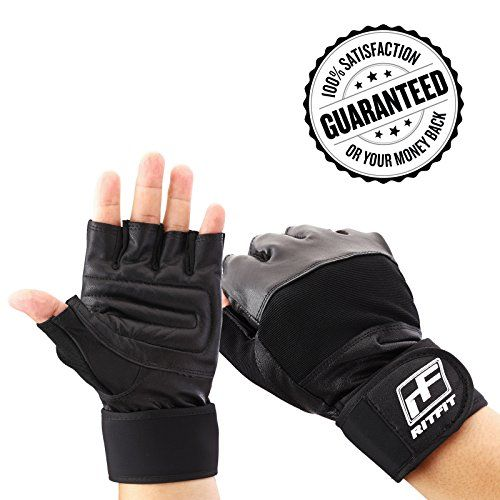 Ritfit Gym Gloves With Integrated Wrist Support For Gym Workout CrossFit Weightlifting Pullups Fitness  Cross TrainingGenuine Soft LeatherPerfect for Men and Women ** Read more  at the image link.