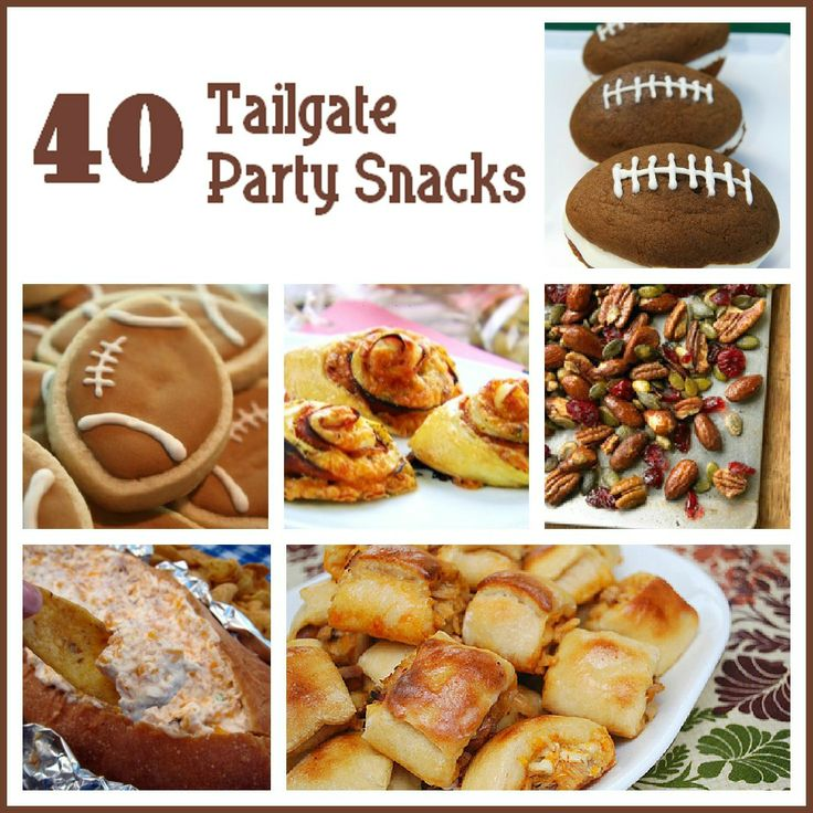40 Tailgate Party Snacks: 40 Tailgate, Football Food, Recipe, Party Snacks, Football Season, Football Party, Six Sisters Stuff, Tailgate Parties