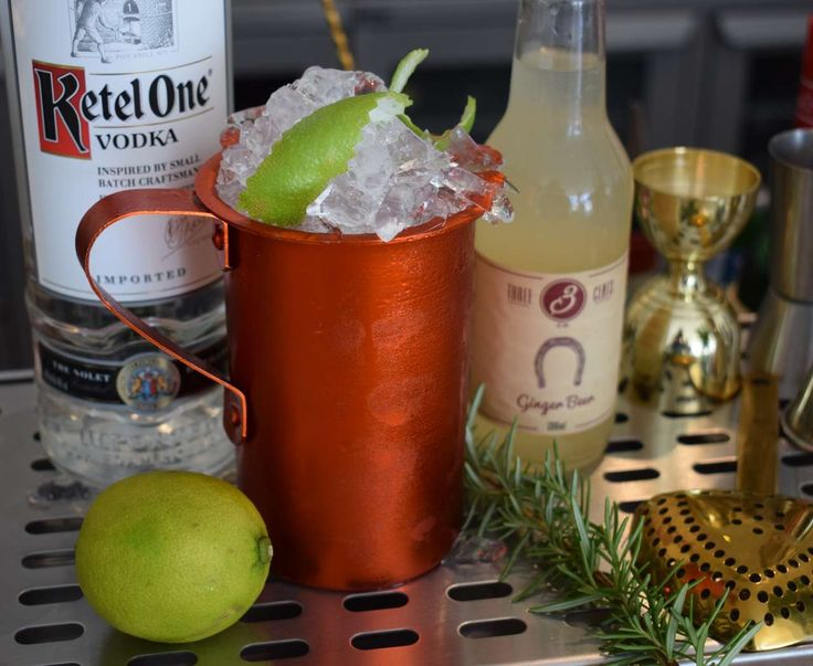Moscow mule goes here ...at Theion Bar @@@Cheers