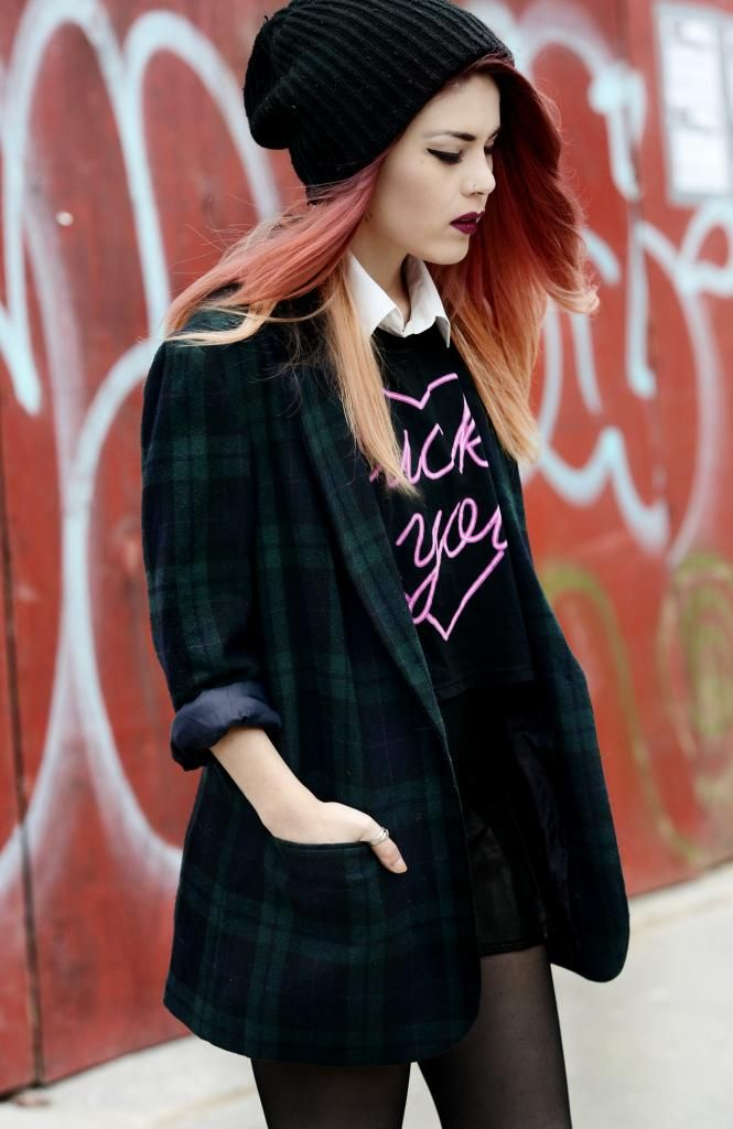 LE HAPPY // Plaid In Motion - I LOVE that blazer!! @luanna90