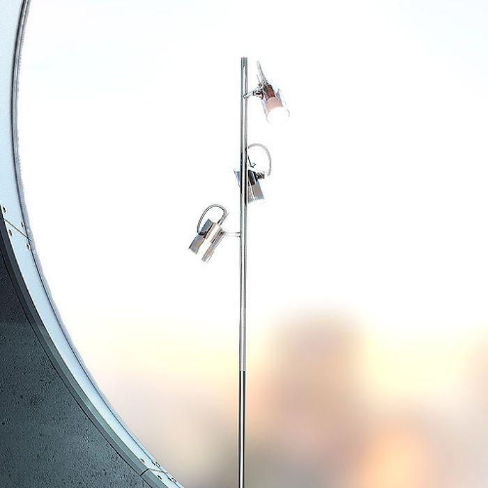 BUGSY GOLV | rendl light studio | Golvlampa med skärmar av glas. Skärmarna går att rikta individuellt i ena axeln. #golvlampa #belysning