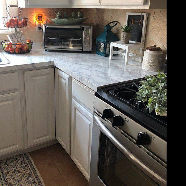 EZ FAUX DECOR Marble Self Adhesive MATTE Gray Soapstone Kitchen Countertop 15ft