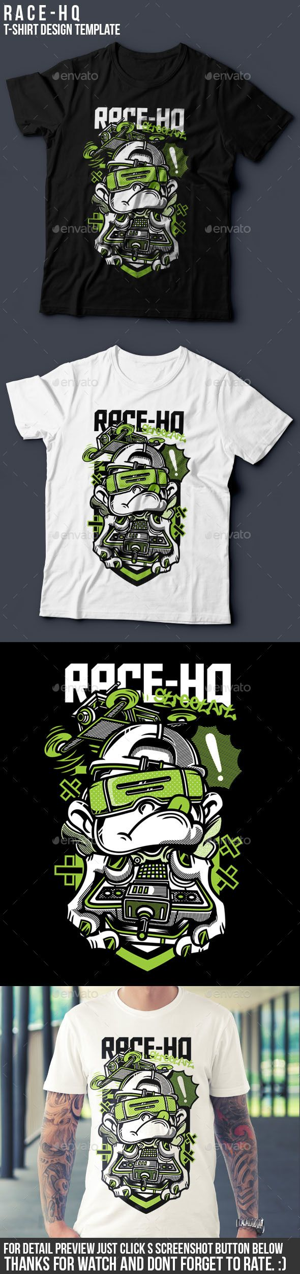 White t shirt eps - Race Hq T Shirt Design