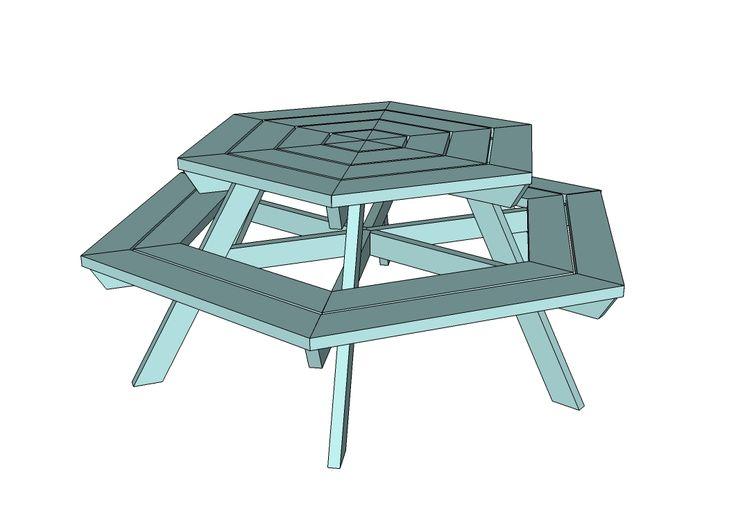 top 25 best octagon picnic table ideas on pinterest