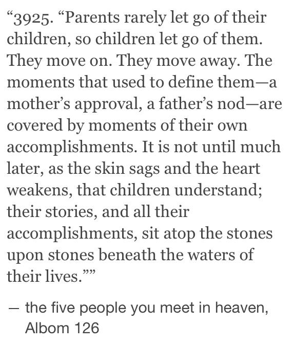 the five people you meet in heaven moral lesson Have you read the five people you meet in heaven by mitch albom i read it a number of years ago it is a touching story that stays with me i thought about the book when i received an email from a public relations firm this week, looking to write a story about an entrepreneur for a major newspaper.