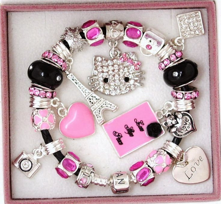 Hello Kitty Pandora Bracelets I WANT THIS OR SOMTHING BAD GONA HAPPIN ( just cinding)