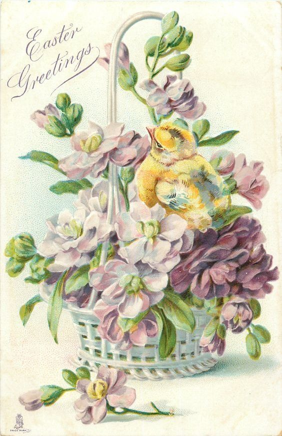 Поздравления картинках, открытки винтаж для пасхи