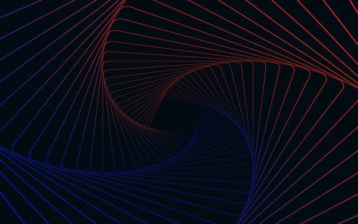 Descargar fondos de pantalla vortex, 4k, rayas, espiral, el arte, las líneas de