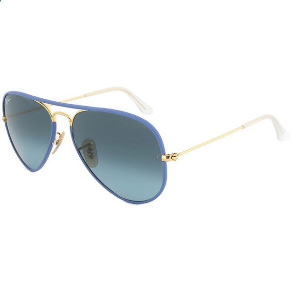 Ray-Ban Ray-Ban Rb3025jm 001/4m Blue Gold Aviator Sunglasses ($131) ❤ liked on Polyvore featuring accessories, eyewear, sunglasses, nocolor, ray ban sunglasses, clear lens glasses, ray ban aviator, blue aviator sunglasses and gold aviator sunglasses