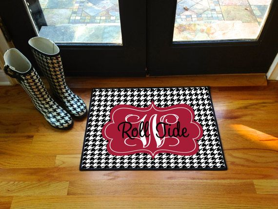 Roll Tides Alabama Personalized Door Mat Monogram Floor