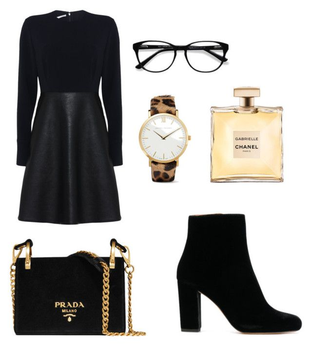 """""""Chic & Casual"""" by matinapapadopoulou on Polyvore featuring Larsson & Jennings, STELLA McCARTNEY, Prada and EyeBuyDirect.com"""