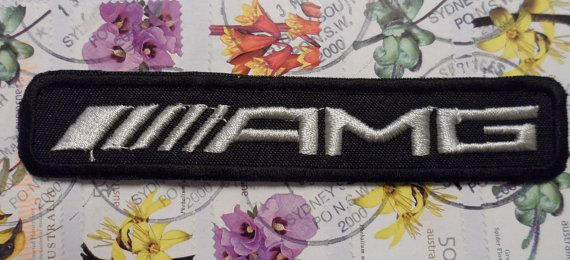 AMG logo patch  mercedes benz  by embroiderypapatedy on Etsy