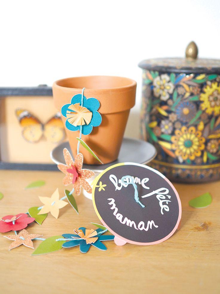 Un pot de fleurs surprise, DIY pour la fête des mères – Les Moustachoux