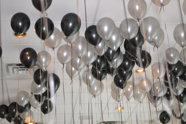 Blow up 100's of helium balloons for a great look.