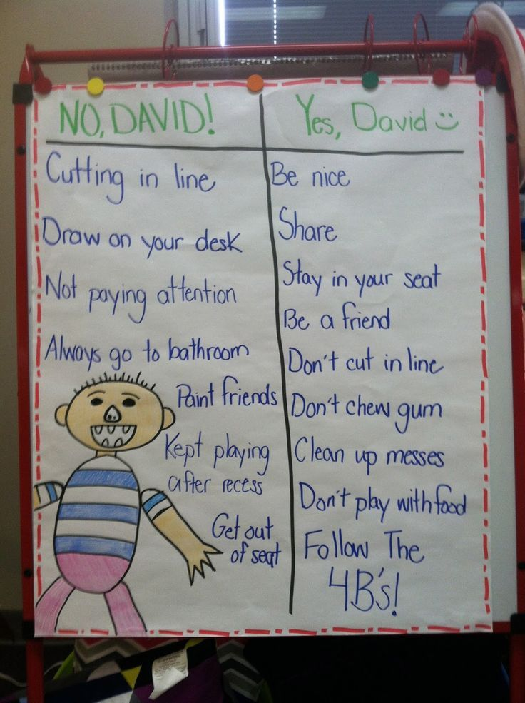 "Class Rules with ""No, David!"" (picture only) perfect for the beginning of the school year!:"